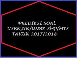 Soal essay usbn smp 2018